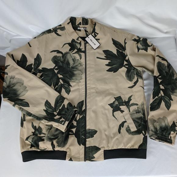 67f5fa60b0a7c MENS Paul   Joe Paris Floral Design Zip Jacket XL